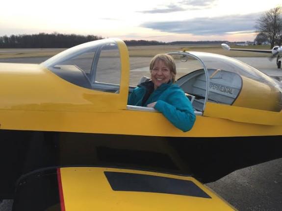 Terri Hull and her new RV6